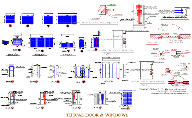 Typical door and window detail dwg file