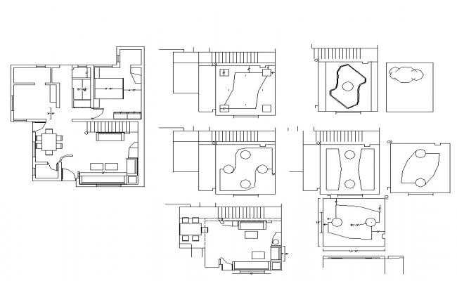 Typical house structure plan layout file in autocad format