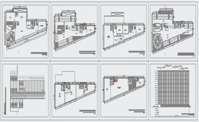 Typical layout of Offices building design drawing