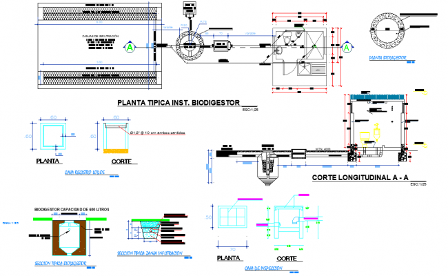 Typical plant is a biodigest plan autocad file