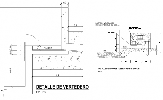 Typical ventilation pipe layout file