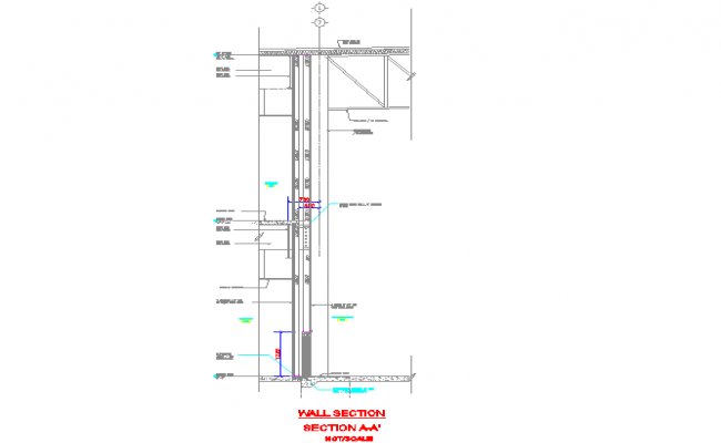 Typical wall section detail drawing file