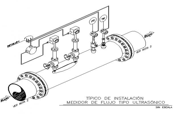 Ultrasonic flow meter dwg file