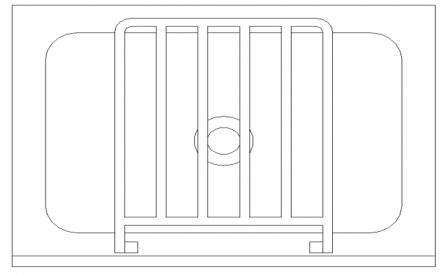 Unique Wash Basin Block Detail in DWG file