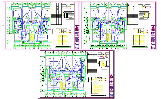 Unit electrical Diagram Lay-out plan detail