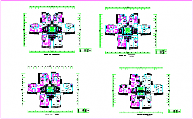 Unit plan of house with area detail dwg file