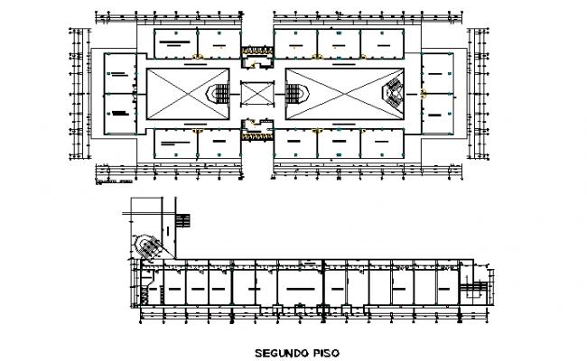 University Commercial plan detail dwg file
