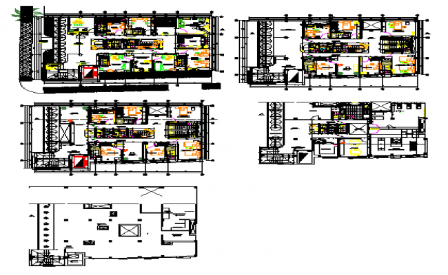 University college structure plan dwg file