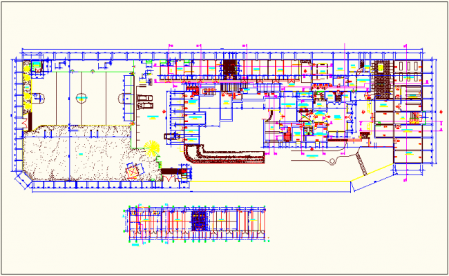 University plan for architectural faculty dwg file