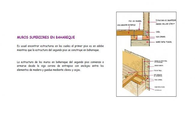 Upper walls in baroque constructive structure details dwg file