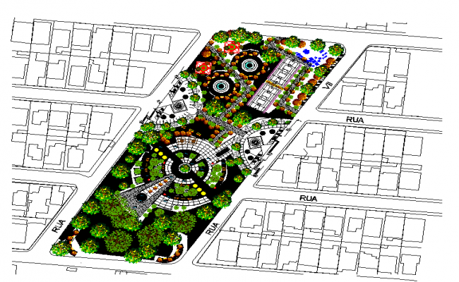 Urban Park Lay-out design