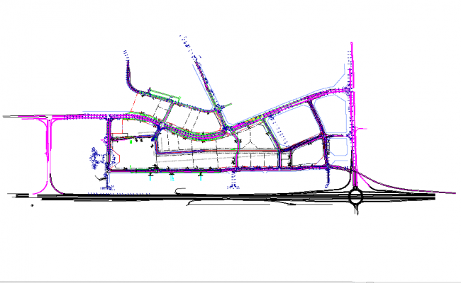 Urban Town Planing design in Autocad File