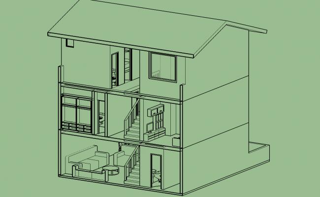 Urban house 3d detail