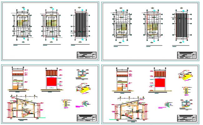 Urban school architecture project dwg file