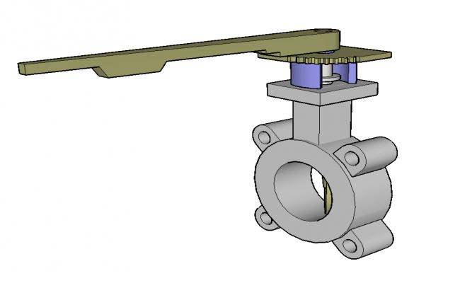 Valve detail elevation 3d model sketch-up file