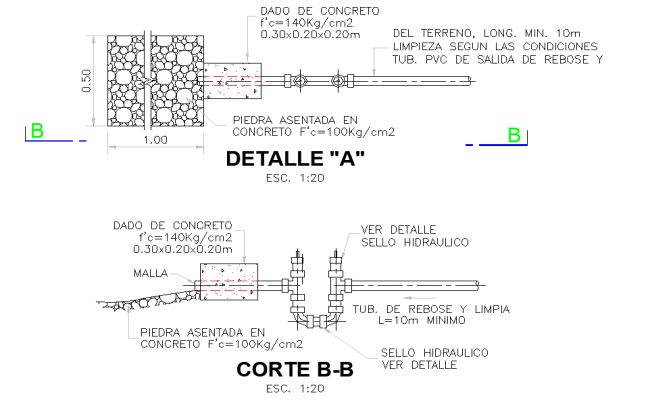 Valve house plan and section layout file