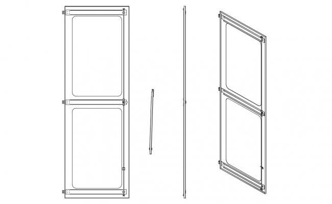 Various Door Blocks Elevation Design 2d CAD AutoCAD File Free Download