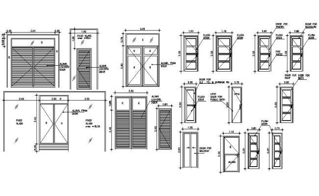 Various Door CAD Blocks Free Download