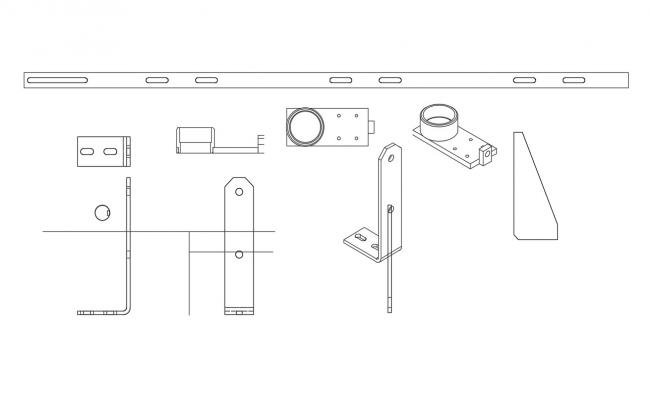 Various Mechanical Blocks and joints Design 2d AutoCAD Drawing Download