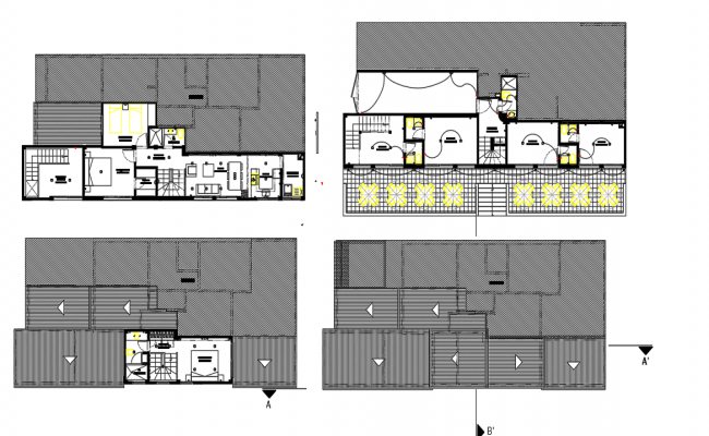 Various architectural layout plans