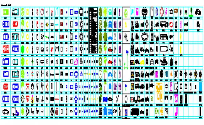 Various type of 2D block design drawing
