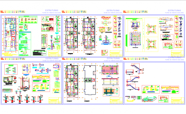 Various type of structure detail for house cad drawing