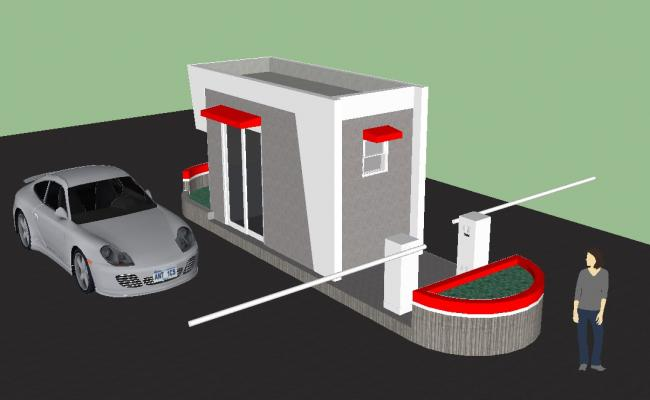 Toll Booth 3d model