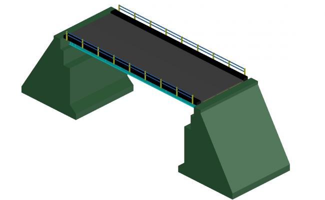 Vehicular 3d bridge elevation cad drawing details dwg file