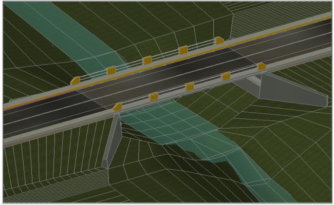 Vehicular bridge 3D view
