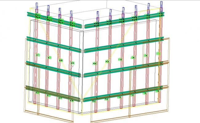 Ventilated facade detailed sections