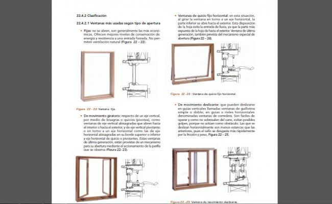 Ventilation window elevation and installation details dwg file