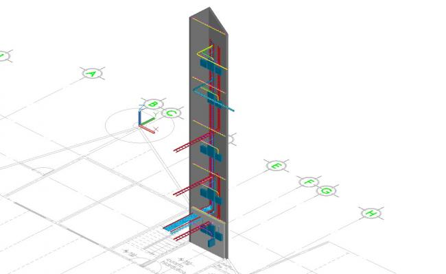 Vertical electrical sounding 3d cad drawing