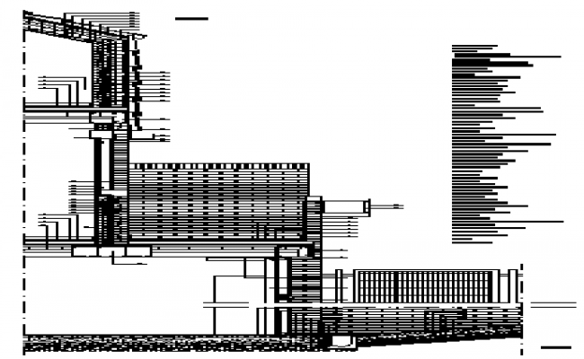 Vertical face section detail design drawing