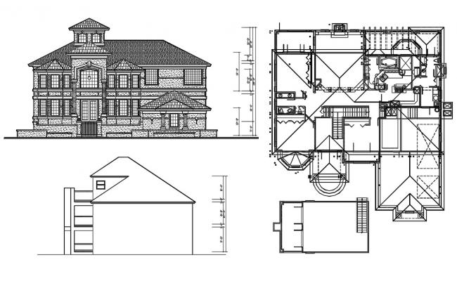 Victorian Style House Design DWG File