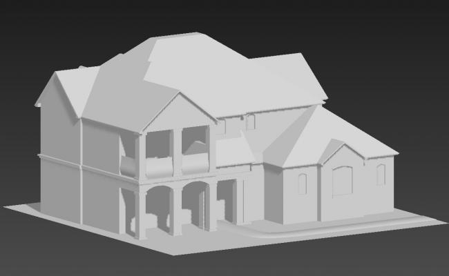View Of Ethnic Bungalow In 3D MAX File Free