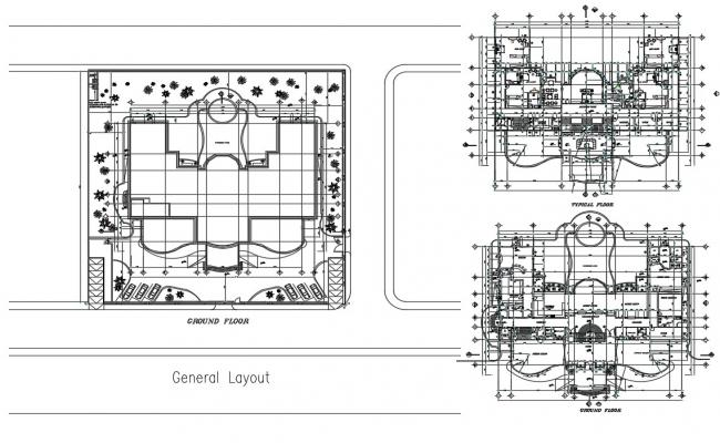 Villa Floor Plan AutoCAD File