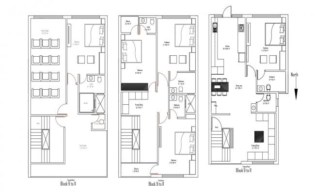 Villa House Plans Furniture Layout AutoCAD Drawing Download