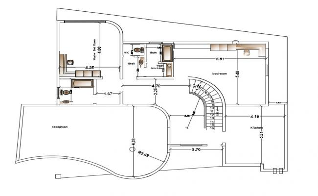 Villa Layout Plan In AutoCAD Drawings