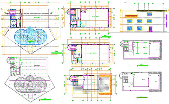 Villa Layout Plan dwg file