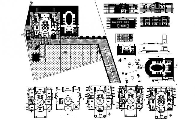 Villa Elevation Design In AutoCAD File