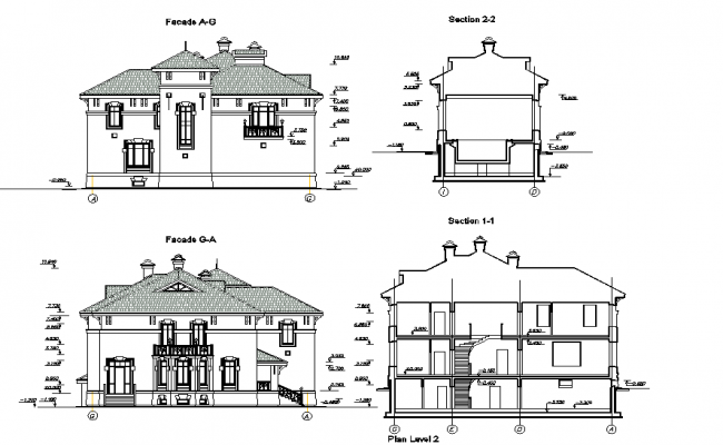 Villa elevation details