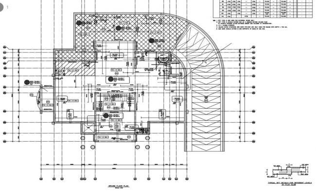 Villa ground floor plan detail.