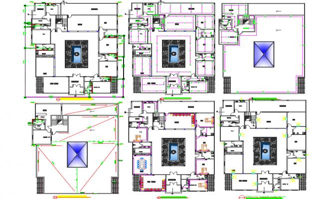Villa layout plan with Detailing