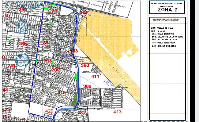 Villa site plan layout detail view dwg file