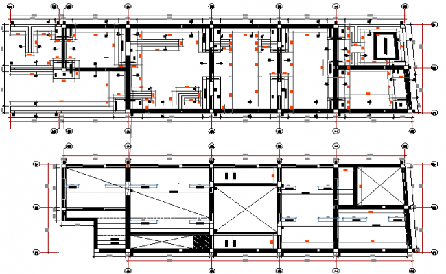 Village Style Housing Project Section Details dwg file