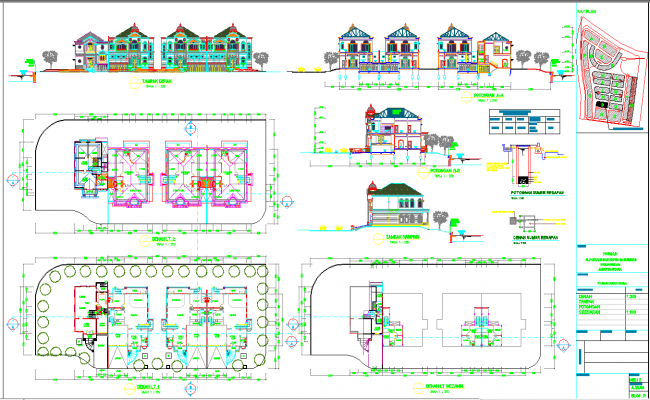 Villas architecture master plan and detail in autocad dwg for Villa plan dwg