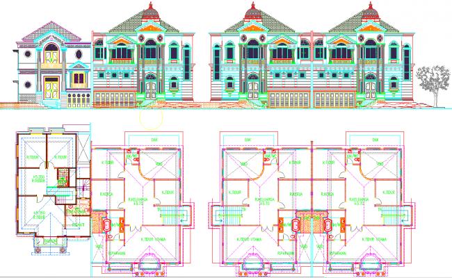 Villas architecture plan and design