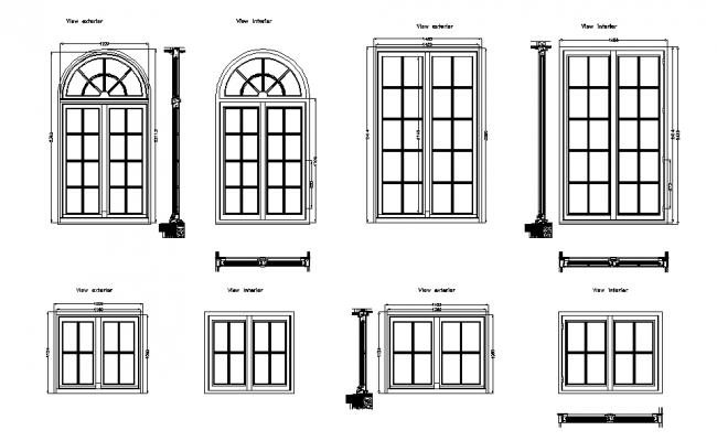 Vintage style window detailing