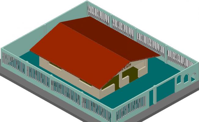 Virtual model 3 D plan detail dwg file