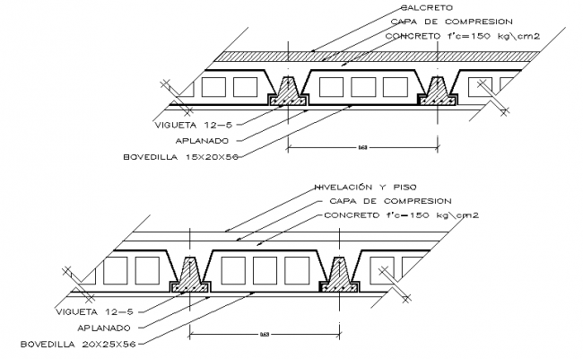 Wall Construction Details of Residential House dwg file